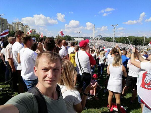 16 августа 2020 года у Стеллы в Минске