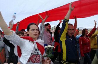 Беларусь 23 августа 2020 года площадь Независимости