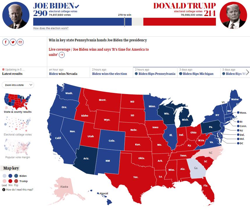 Джо Байден стал 46 президентом США